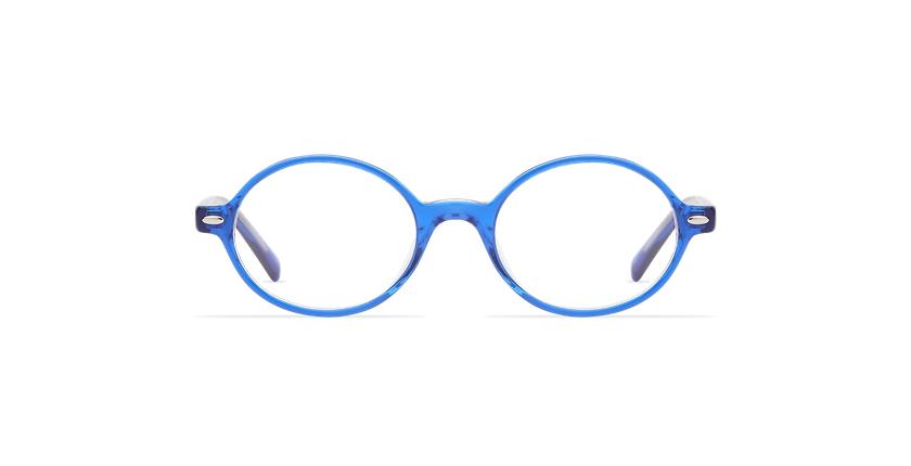 Lunettes de vue enfant LAYAN bleu - Vue de face