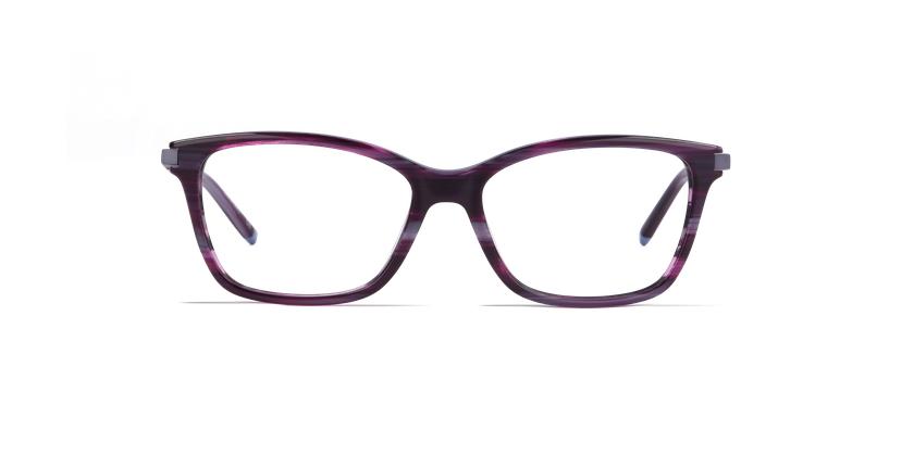 Óculos graduados senhora MEDICIS violeta - Vista de frente