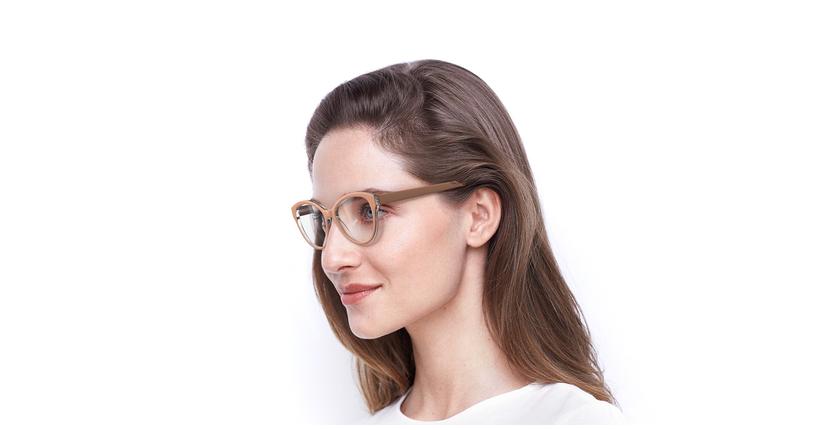 Óculos graduados senhora OAF20521 BR (TCHIN-TCHIN +1€) castanho - vue de 3/4