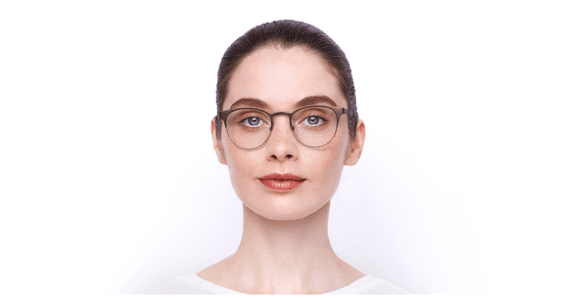 Lunettes de vue femme MAGIC 44 BLUEBLOCK marron/beige - Vue de face