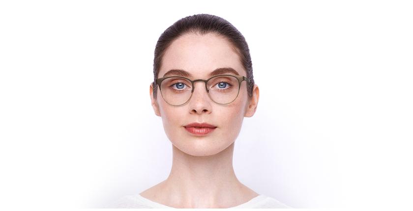 Óculos graduados senhora MAGIC 44 BLUEBLOCK - BLOQUEIO LUZ AZUL castanho/bege - Vista de frente