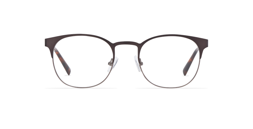 Óculos graduados homem JUSTIN (Tchin-Tchin +1€) castanho/cinzento - Vista de frente