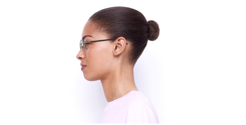 Óculos graduados senhora LAM BL (TCHIN-TCHIN +1€) azul/dourado - Vista lateral