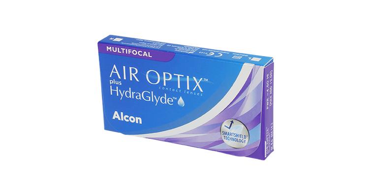 Lentilles de contact Air Optix Plus Hydraglyde Multifocal 3L