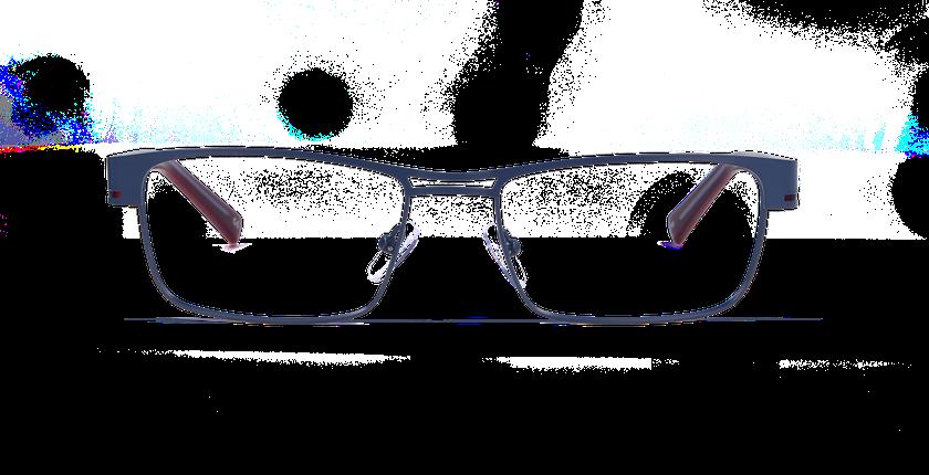 Lunettes de vue homme LEO bleu - vue de face