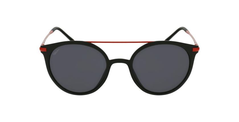 Lunettes de soleil SAKY noir/rouge - Vue de face