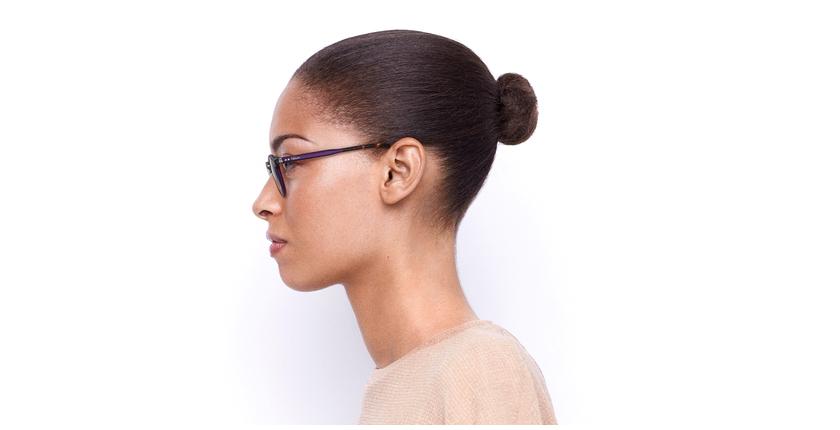 Lunettes de vue BRAHMS violet/écaille - Vue de côté