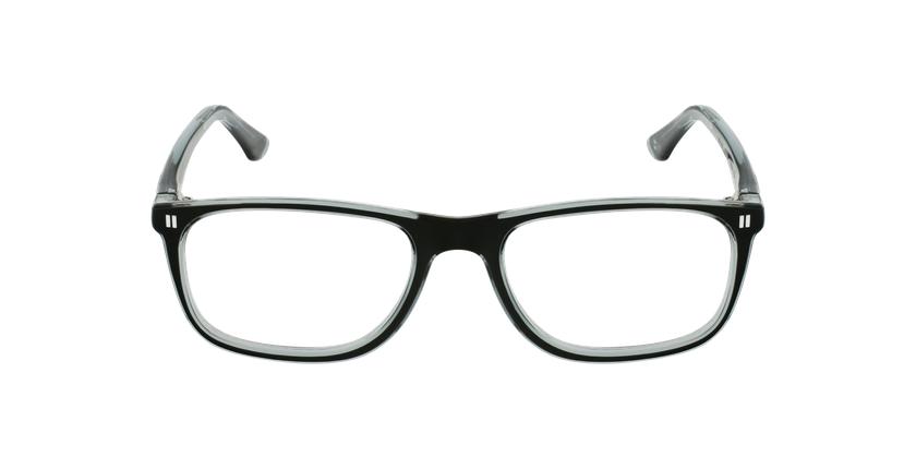 Óculos graduados criança REFORM TEENAGER (J3BKGY) preto/cinzento - Vista de frente