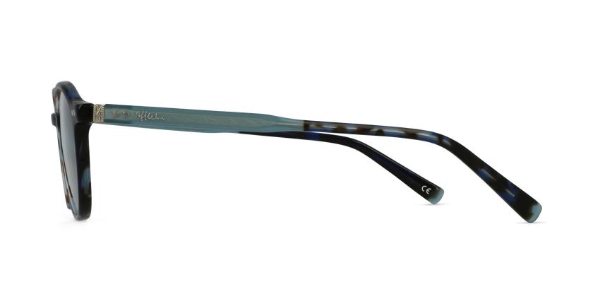 Lunettes de vue BIZET bleu - Vue de côté