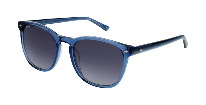 Óculos de sol JACK BL azul/branco - vue de 3/4