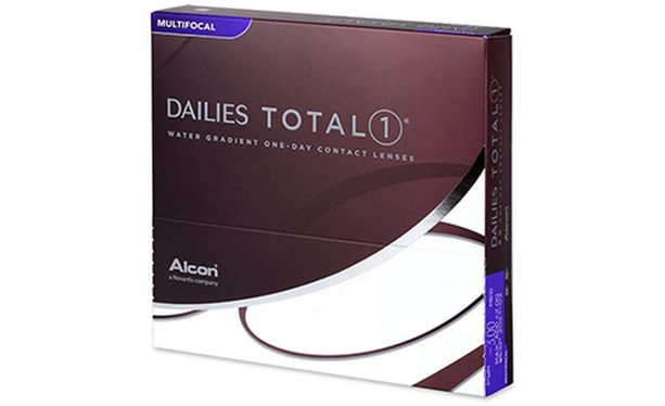 Lentilles de contact Dailies Total 1 Multifocal 90L - Vue de face