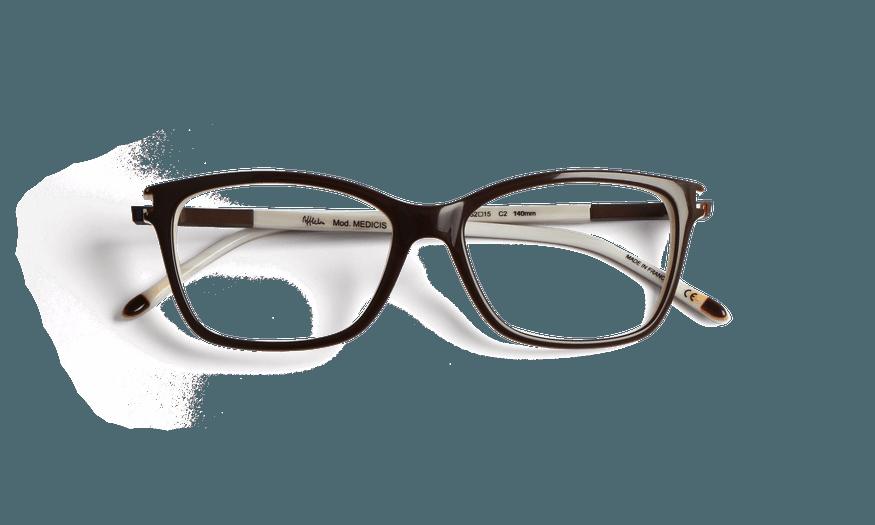 Lunettes de vue femme MEDICIS marron