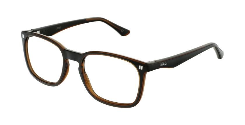 Óculos graduados criança REFORM TEENAGER (J2BKBR) preto/castanho - vue de 3/4