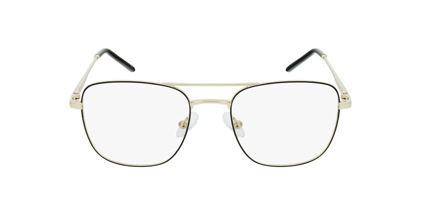Óculos graduados homem WALTER BK (TCHIN-TCHIN +1€) preto/dourado - Vista de frente
