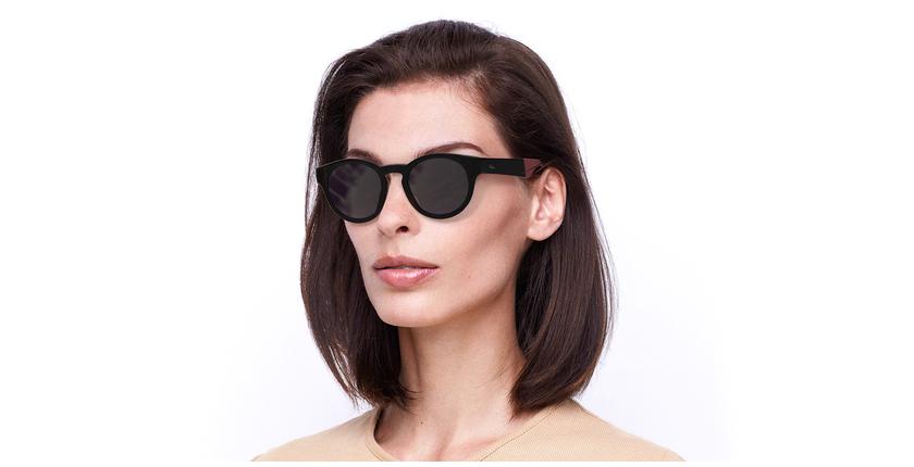 Óculos de sol senhora SLALOM POLARIZED TO tartaruga/rosa - vue de 3/4