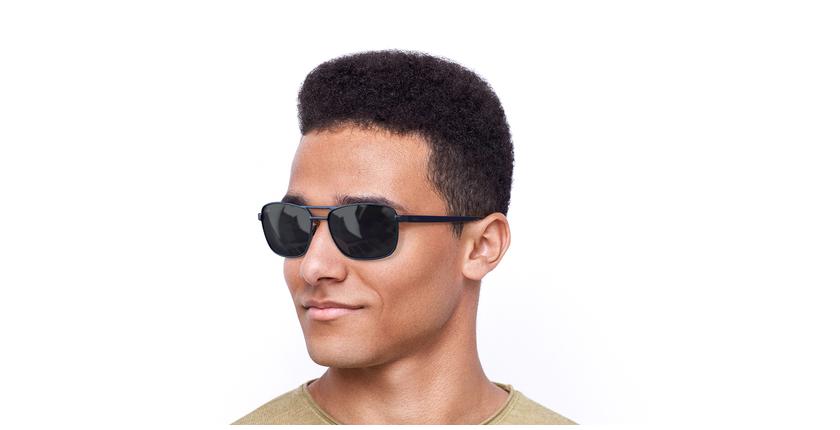 Óculos de sol homem AMIR BL azul - vue de 3/4