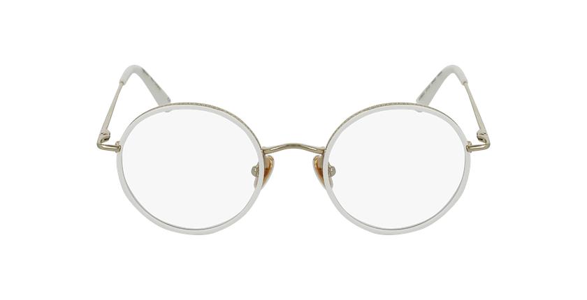 Óculos graduados CHOPIN WH dourado/branco - Vista de frente