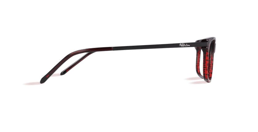 Lunettes de vue homme ORSAY rouge - Vue de côté