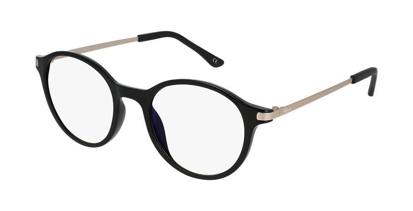 Óculos graduados senhora MAGIC 37 BK BLUEBLOCK - BLOQUEIO LUZ AZUL preto - vue de 3/4