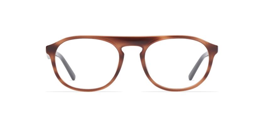 Óculos graduados homem ZACK BR (TCHIN-TCHIN +1€) castanho/preto - Vista de frente
