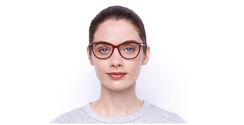 Óculos graduados senhora OAF20520 RD (TCHIN-TCHIN +1€) vermelho - Vista de frente
