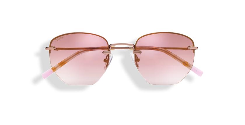 Óculos de sol senhora JENNA PK dourado/rosa - Vista de frente