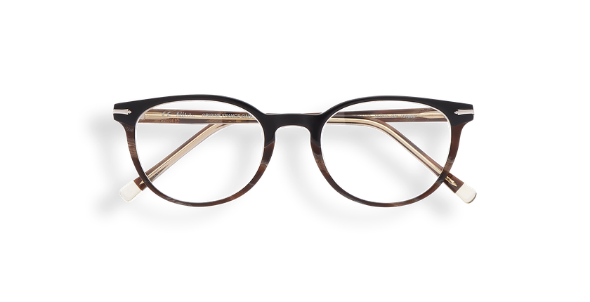 Gafas graduadas mujer NANTUA negro/marrón - vista de frente
