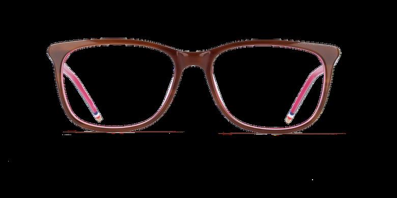 Óculos graduados senhora YLANG castanho/rosa