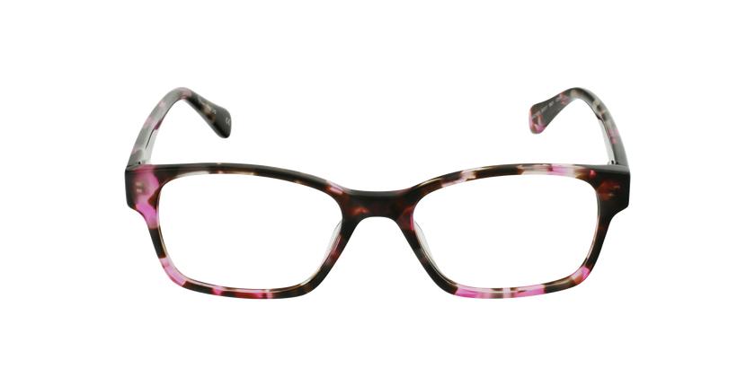 Lunettes de vue femme LYS rose/écaille - Vue de face