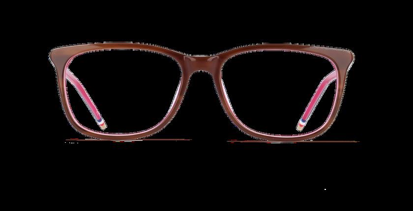 Gafas graduadas mujer YLANG marrón/rosa - vista de frente