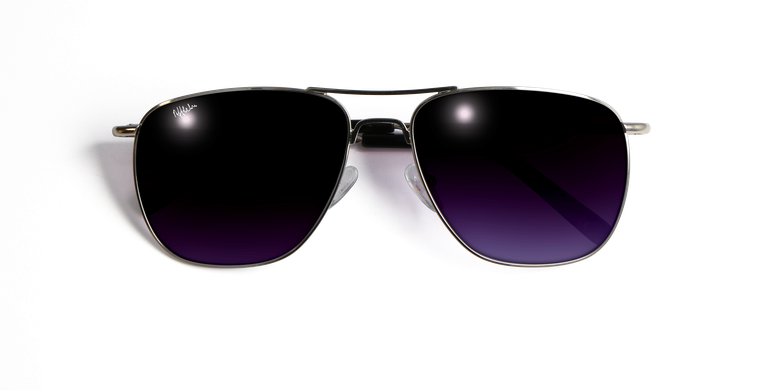 Óculos de sol homem JOHN prateado