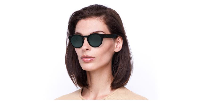 Óculos de sol senhora SLALOM POLARIZED BK preto/turquesa - vue de 3/4