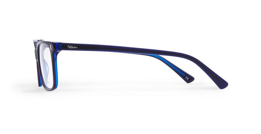 Lunettes de vue homme ANDREW violet/bleu - Vue de côté
