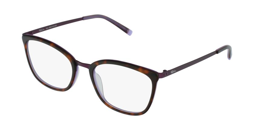 Lunettes de vue femme BEETHOVEN écaille/violet - vue de 3/4
