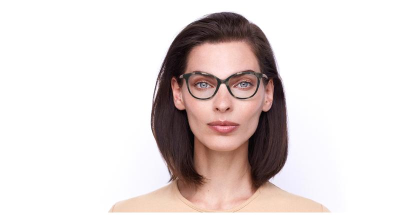 Lunettes de vue femme NOUR écaille - Vue de face