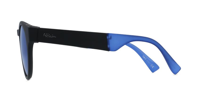 Lunettes de soleil femme SLALOM noir/bleu - Vue de côté