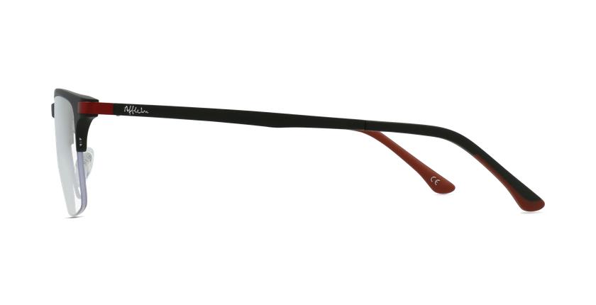 Óculos graduados homem MAGIC 56 BLUEBLOCK - BLOQUEIO LUZ AZUL preto/vermelho - Vista lateral