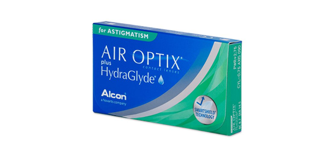 Lentilles de contact Air Optix Plus Hydraglyde For Astigmatism 3L