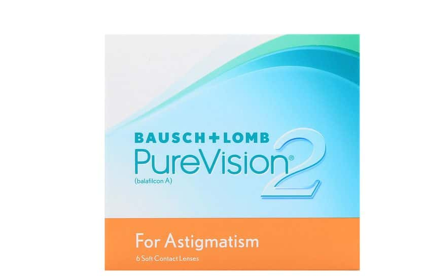 Lentilles de contact PureVision 2 HD for Astigmatism 6L - vue de face