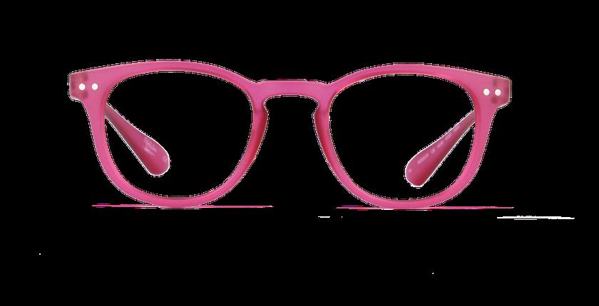 Lunettes de vue BLUE BLOCK MIXTE rose - Vue de face
