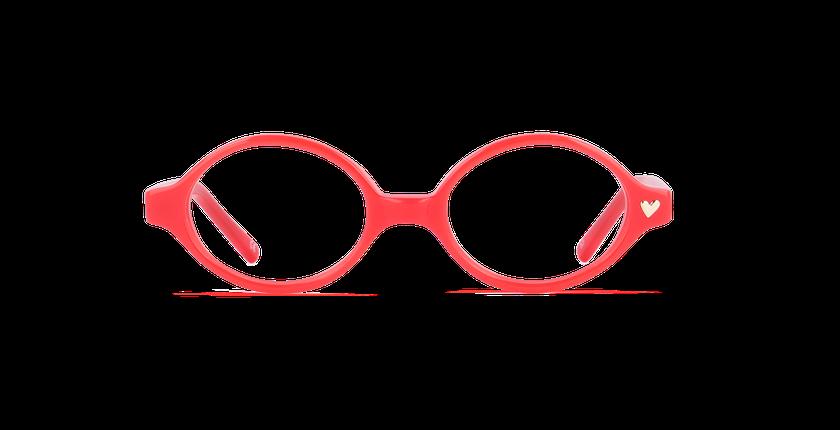 Óculos graduados criança MAUD vermelho - Vista de frente
