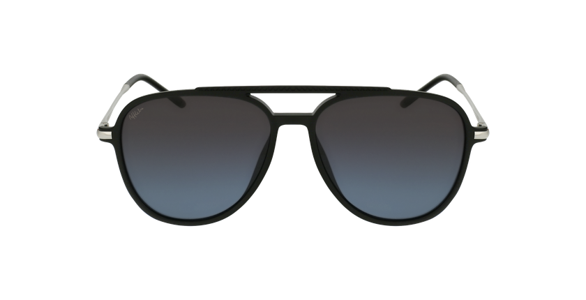 Óculos de sol homem RILEY POLARIZED BK preto/cinzento - Vista de frente