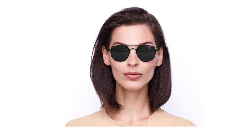 Óculos de sol STAN BK preto - Vista de frente