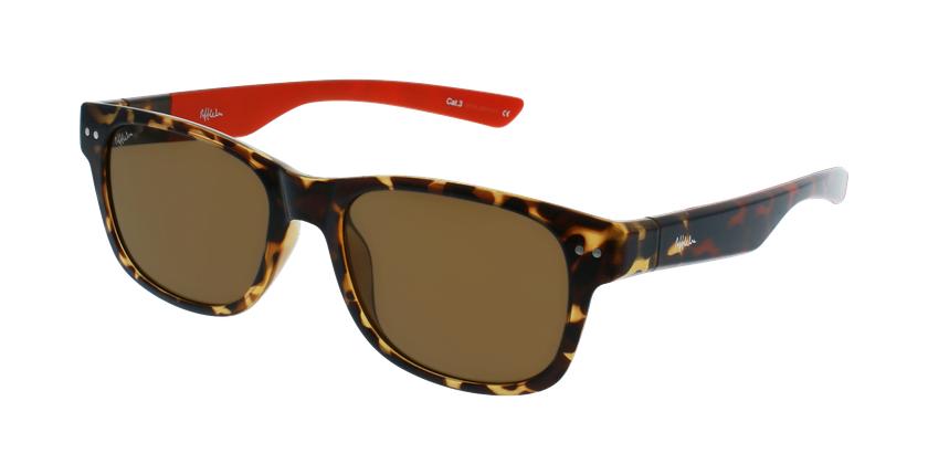Óculos de sol homem FLORENT POLARIZED TORD tartaruga/vermelho - vue de 3/4