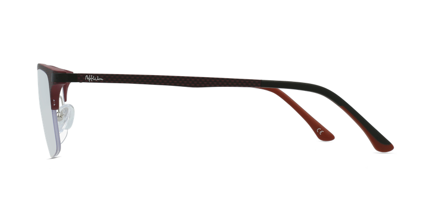 Óculos graduados homem MAGIC 56 BLUEBLOCK - BLOQUEIO LUZ AZUL vermelho - Vista lateral