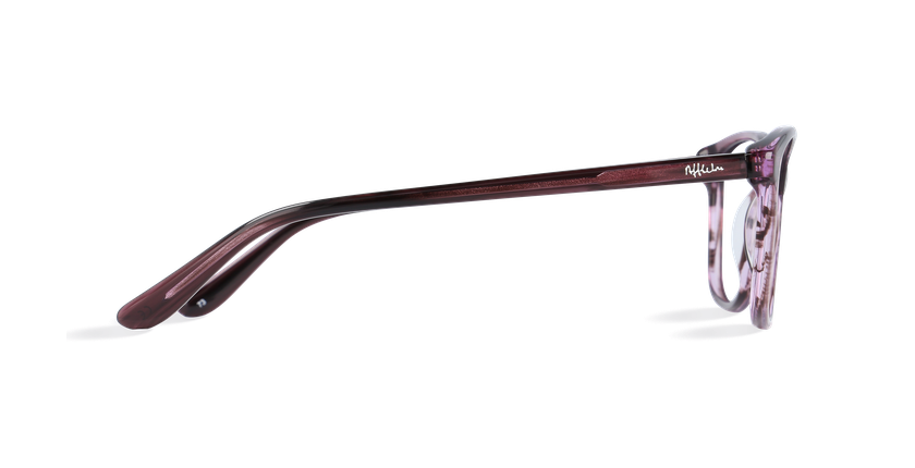 Lunettes de vue femme DAFNE violet - Vue de côté
