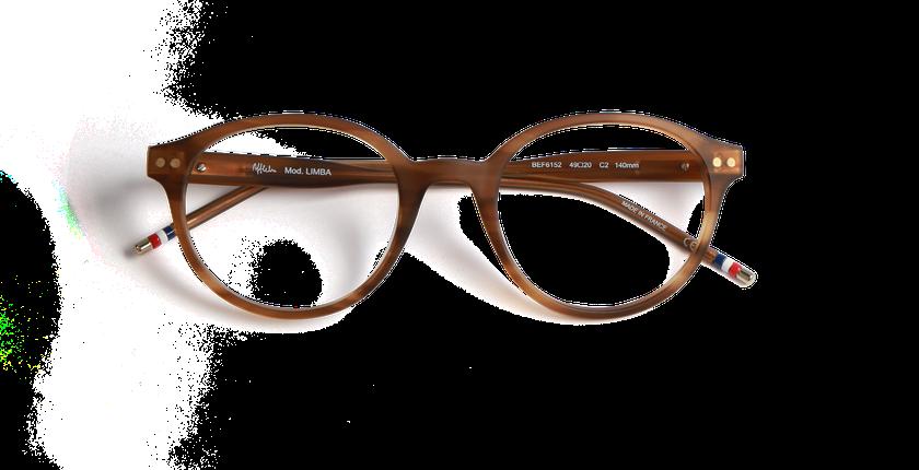 Lunettes de vue homme LIMBA marron - Vue de face