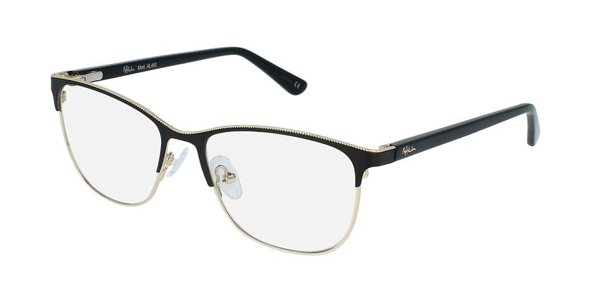 Óculos graduados senhora ALAIS BK (TCHIN-tCHIN +1€) preto - vue de 3/4