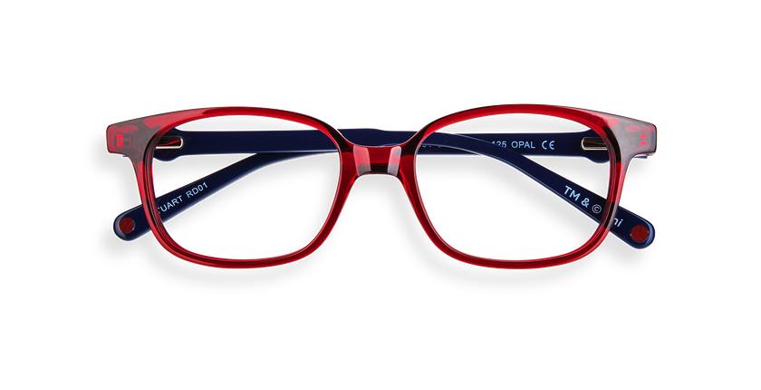 Óculos graduados criança STUART C1 vermelho - Vista de frente