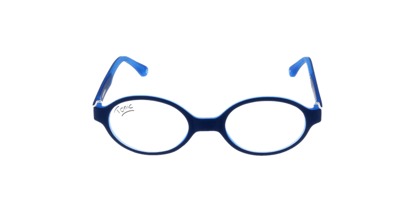 Lunettes de vue enfant T028 bleu - vue de face